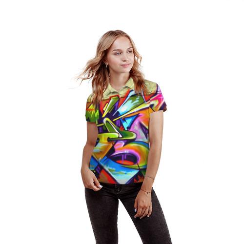 Женская рубашка поло 3D Кислота Фото 01