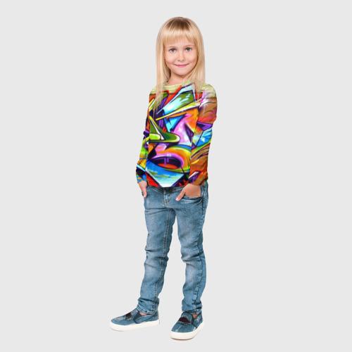 Детский лонгслив 3D Кислота Фото 01