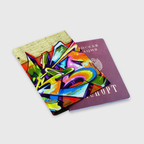 Обложка для паспорта матовая кожа Кислота Фото 01