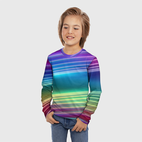 Детский лонгслив 3D Neon lines Фото 01