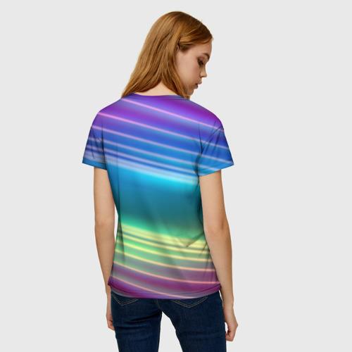 Женская футболка 3D Neon lines Фото 01