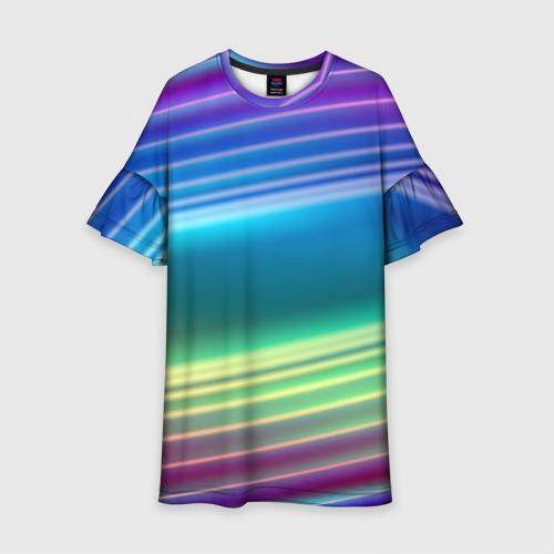 Детское платье 3D Neon lines Фото 01