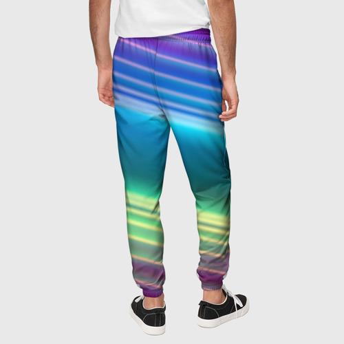 Мужские брюки 3D Neon lines Фото 01