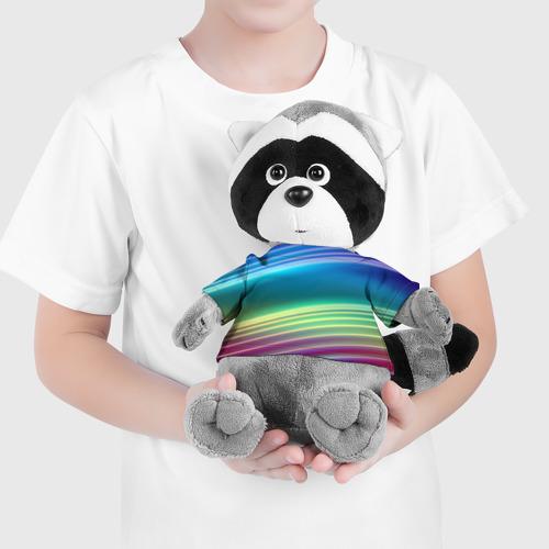 Игрушка Енотик в футболке 3D Neon lines Фото 01