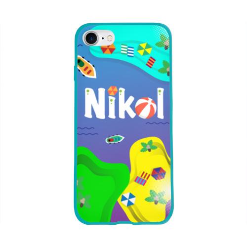 Чехол для Apple iPhone 8 силиконовый глянцевый Nikol Sea Фото 01