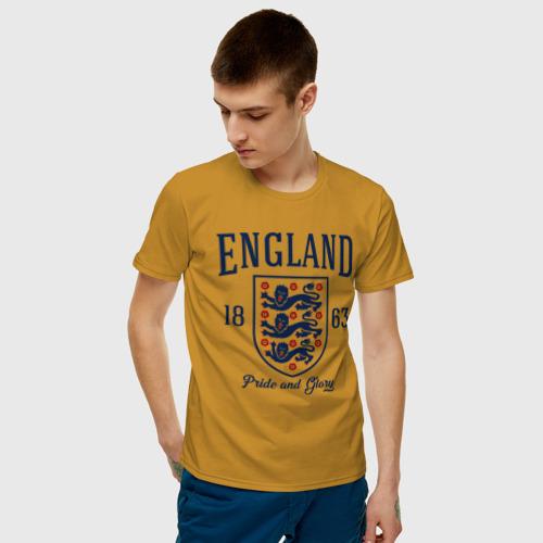 Мужская футболка хлопок Сборная Англии Фото 01