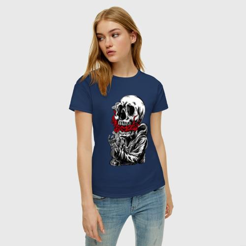 Женская футболка хлопок Пламя Фото 01