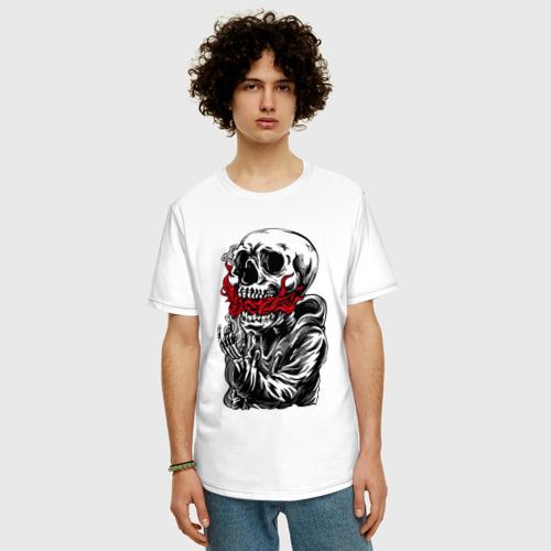 Мужская футболка хлопок Oversize Пламя Фото 01