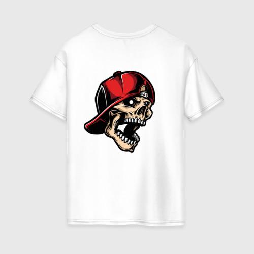 Женская футболка хлопок Oversize Skull Фото 01