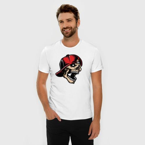 Мужская футболка хлопок Slim Skull Фото 01