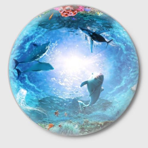 Значок Дельфины Фото 01
