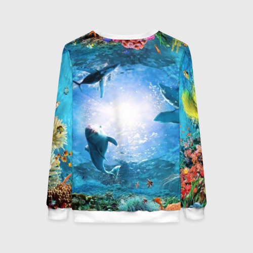 Женский свитшот 3D Дельфины Фото 01