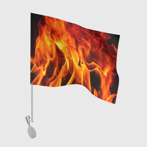 Флаг для автомобиля Огонь и дым Фото 01