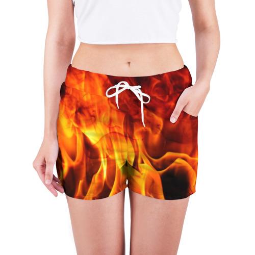 Женские шорты 3D Огонь и дым Фото 01