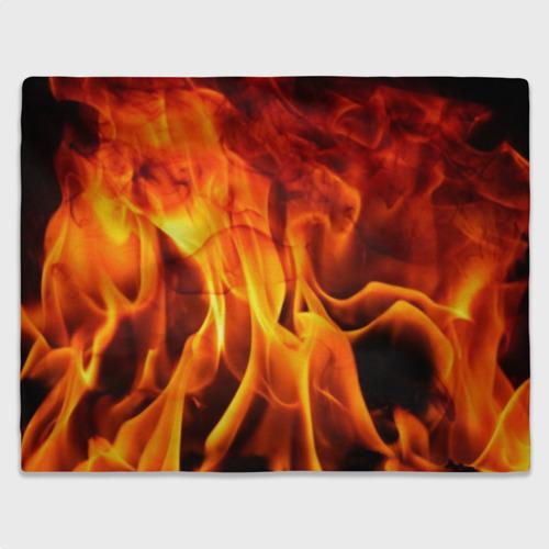 Плед 3D Огонь и дым Фото 01
