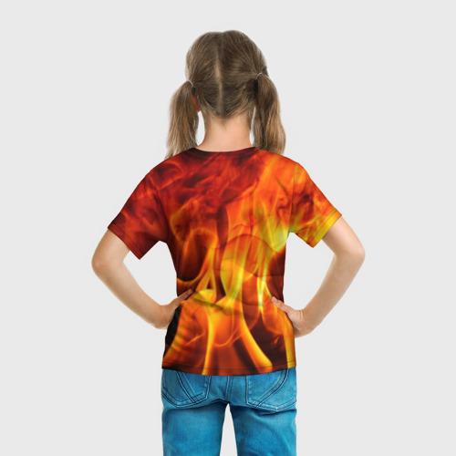 Детская футболка 3D Огонь и дым Фото 01