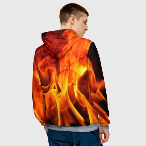 Мужская толстовка 3D Огонь и дым Фото 01