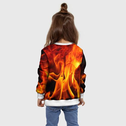 Детский свитшот 3D Огонь и дым Фото 01