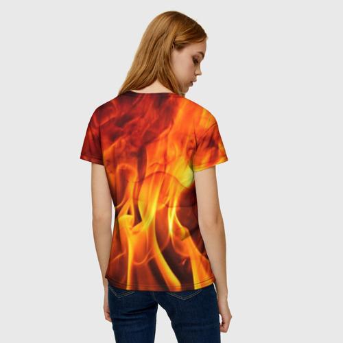 Женская футболка 3D Огонь и дым Фото 01