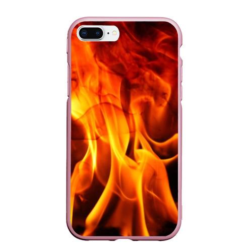 Чехол для iPhone 7Plus/8 Plus матовый Огонь и дым Фото 01