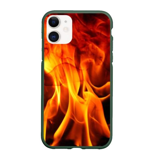 Чехол для iPhone 11 матовый Огонь и дым Фото 01