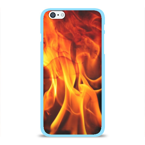 Чехол для iPhone 6Plus/6S Plus глянцевый Огонь и дым Фото 01