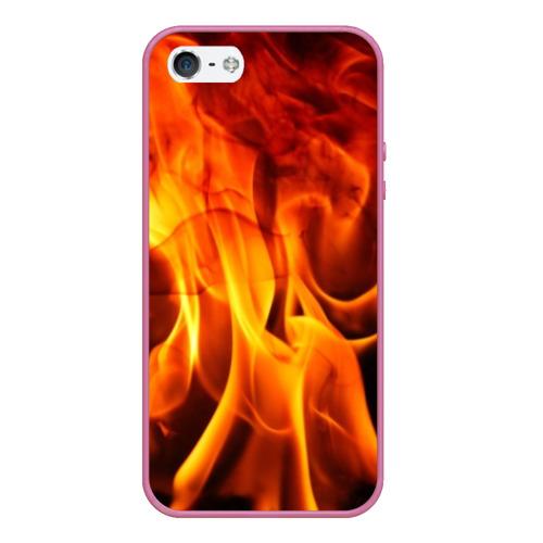 Чехол для iPhone 5/5S матовый Огонь и дым Фото 01