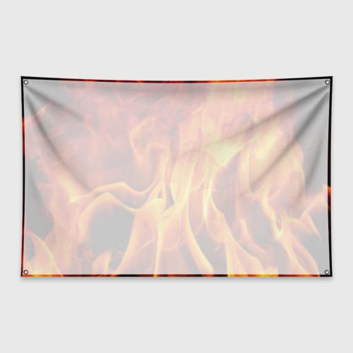Флаг-баннер Огонь и дым Фото 01