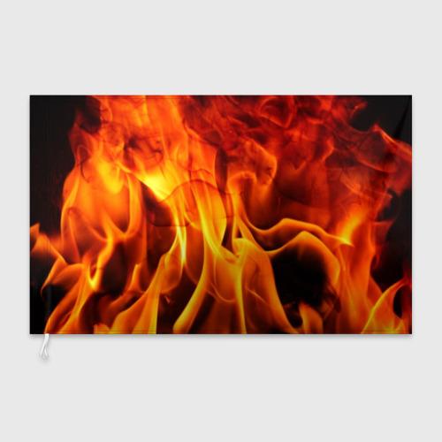 Флаг 3D Огонь и дым Фото 01
