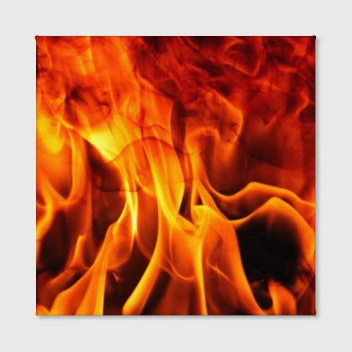 Холст квадратный Огонь и дым Фото 01