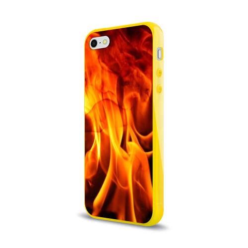 Чехол для iPhone 5/5S глянцевый Огонь и дым Фото 01