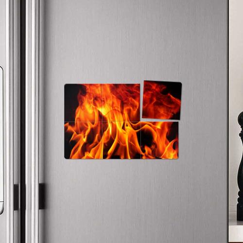 Магнитный плакат 3Х2 Огонь и дым Фото 01