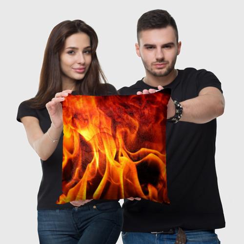 Подушка 3D Огонь и дым Фото 01