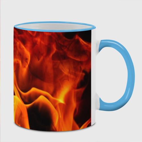 Кружка с полной запечаткой Огонь и дым Фото 01