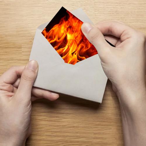 Поздравительная открытка Огонь и дым Фото 01