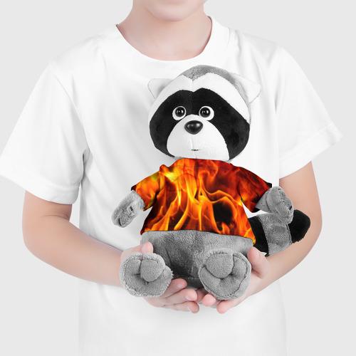 Игрушка Енотик в футболке 3D Огонь и дым Фото 01