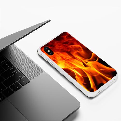 Чехол для iPhone XS Max матовый Огонь и дым Фото 01