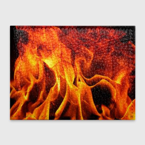 Обложка для студенческого билета Огонь и дым Фото 01