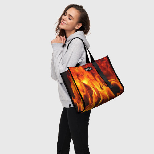 Сумка-шоппер 3D Огонь и дым Фото 01