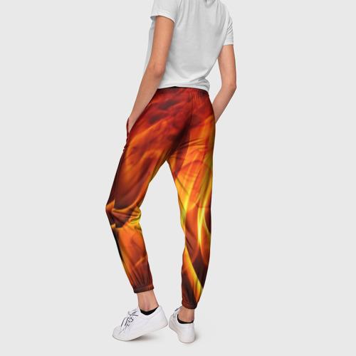 Женские брюки 3D Огонь и дым Фото 01
