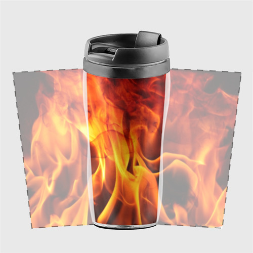 Термокружка-непроливайка Огонь и дым Фото 01