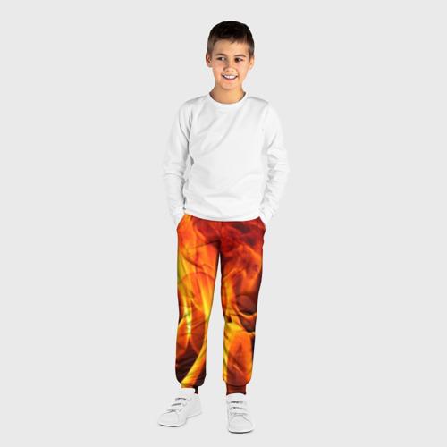 Детские брюки 3D Огонь и дым Фото 01