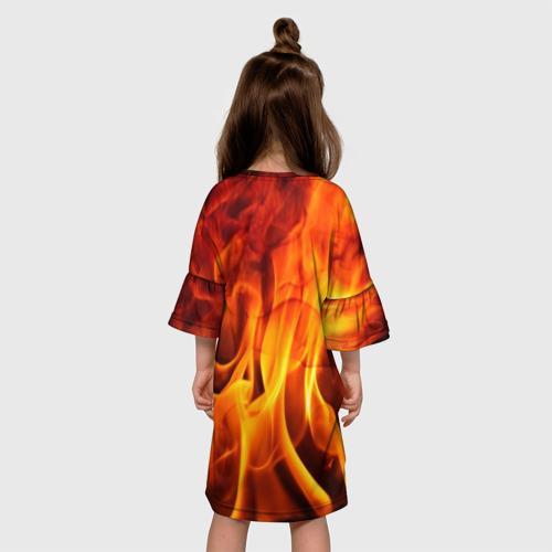 Детское платье 3D Огонь и дым Фото 01