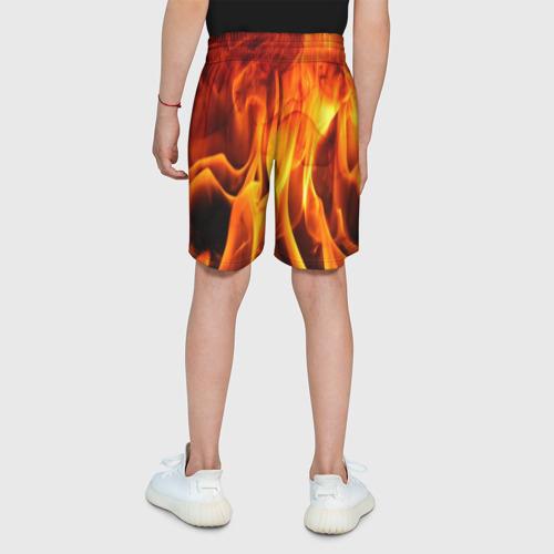 Детские спортивные шорты 3D Огонь и дым Фото 01
