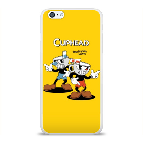 Чехол для Apple iPhone 6Plus/6SPlus силиконовый глянцевый Cuphead Фото 01