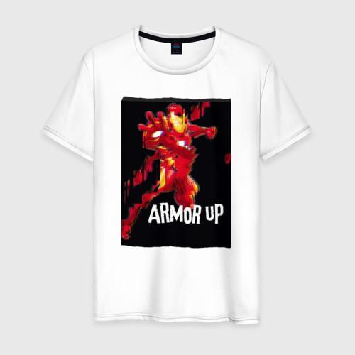 Мужская футболка хлопок  Фото 01, Iron Man armor up