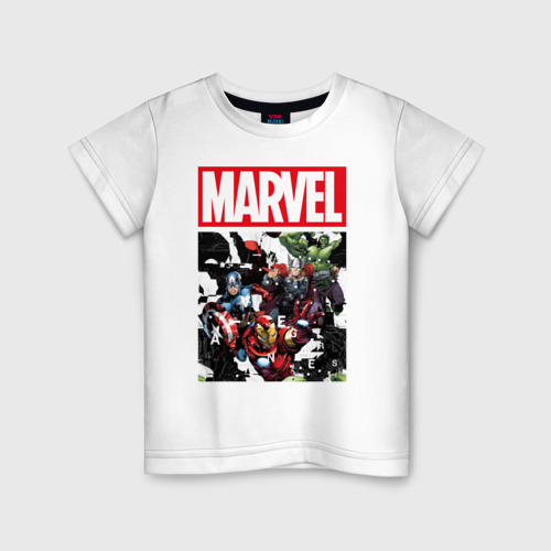 Детская футболка хлопок Avengers glitch Фото 01