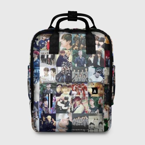 Женский рюкзак 3D BTS Collage Фото 01