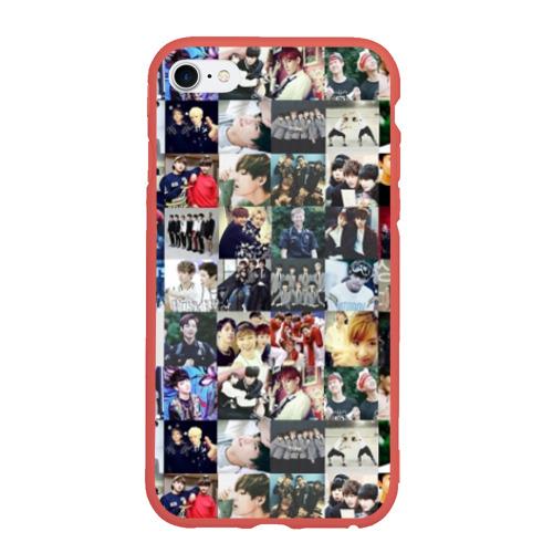 Чехол для iPhone 6/6S Plus матовый BTS Collage Фото 01