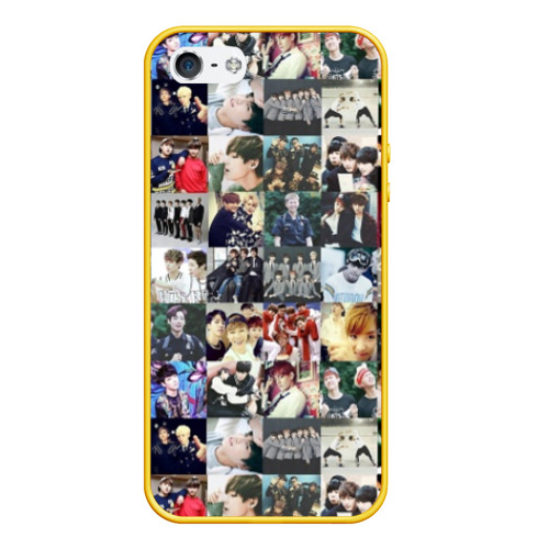 Чехол для iPhone 5/5S матовый BTS Collage Фото 01